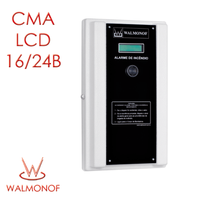 Central Convencional LCD – 16 Endereços 24 V