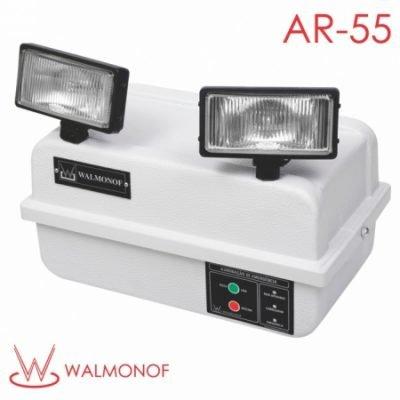 Iluminação de Emergência Autônoma com 2 Faróis de lâmpada halógena de 55W