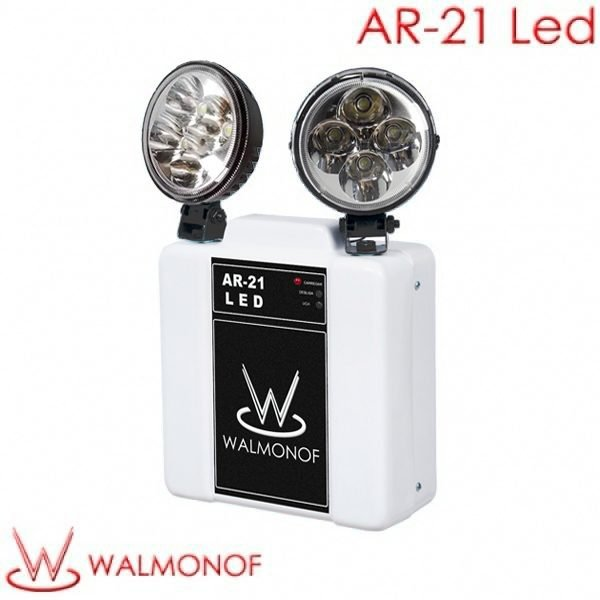 Iluminação de Emergência Autônoma com dois Faróis direcionáveis de LED em SMD