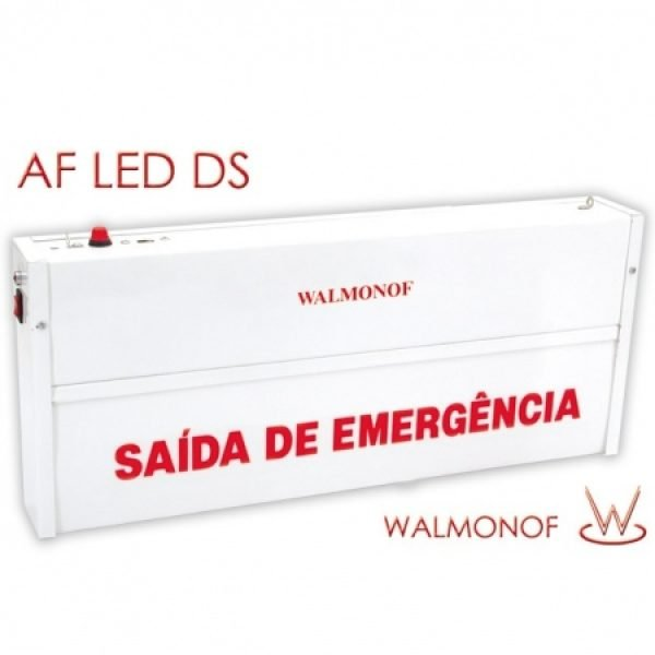 Iluminação de Emergência Autônoma Dupla-Face para aclaramento ou balizamento com LED em SMD
